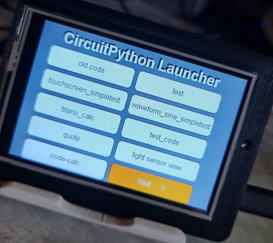 PyPortal Titano Program Launcher