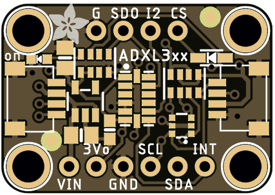 ADXL3xx accelerometers